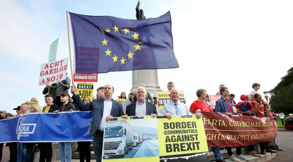 Brexit protest Belfast ANP