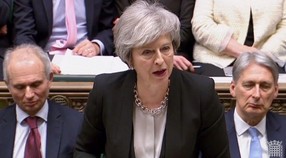 Brexit stemming 29 januari Theresa May