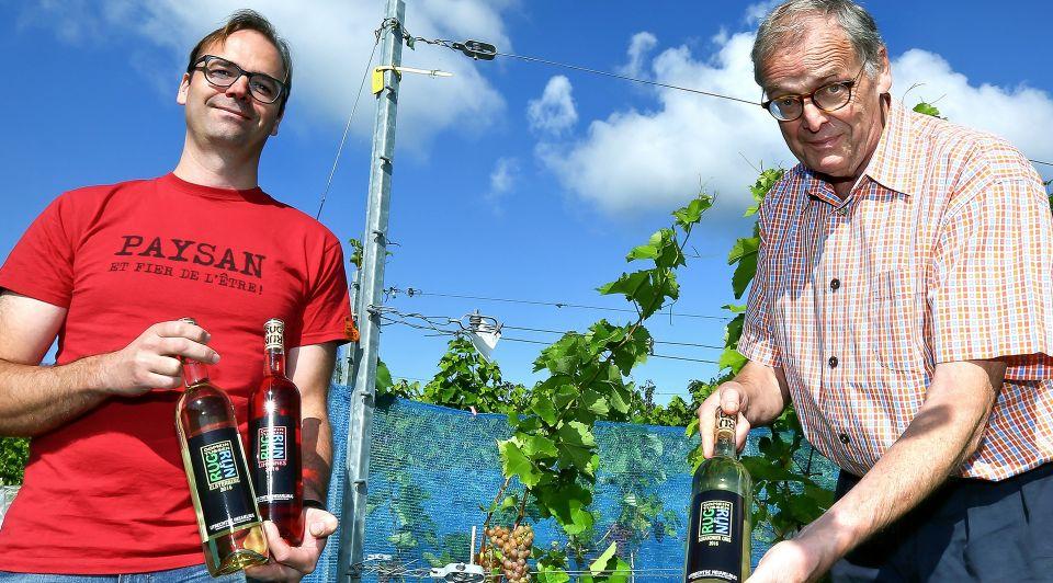 Domein tussen Rug en Rijn met prijswinnende wijnen van Hans en Simon Crone vader en zoon