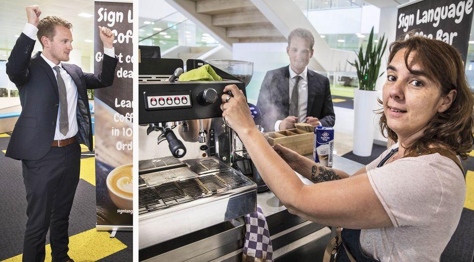 Dove Barrista Sign Language Coffee Bar