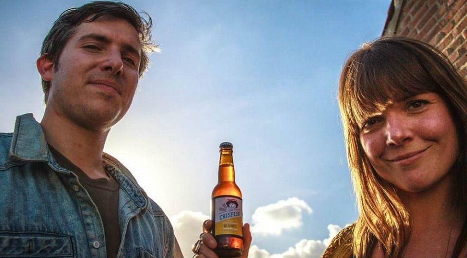 Eigenaren Brouwerij Sint Crispijn Gilian en Annemieke Waalwijk