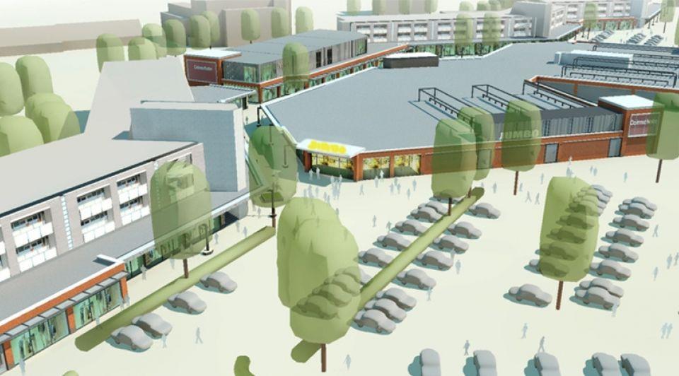 Impressie winkelcentrum Colmschate Deventer