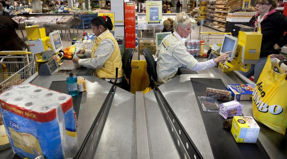 Kassa supermarkt scannen