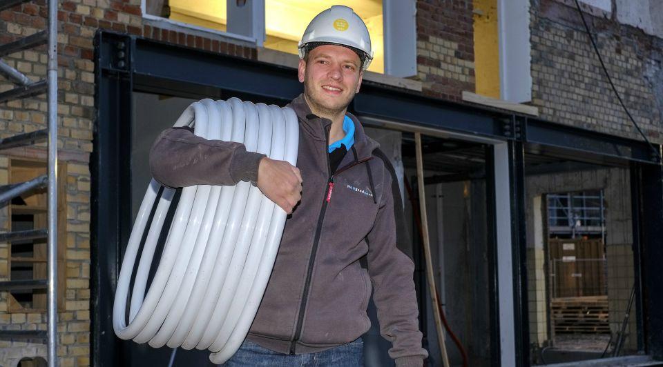 Marlies wessels erik bouwmeester loodgieter installateur uwv bouwsector kantoor jongeren jeugd werk carriere