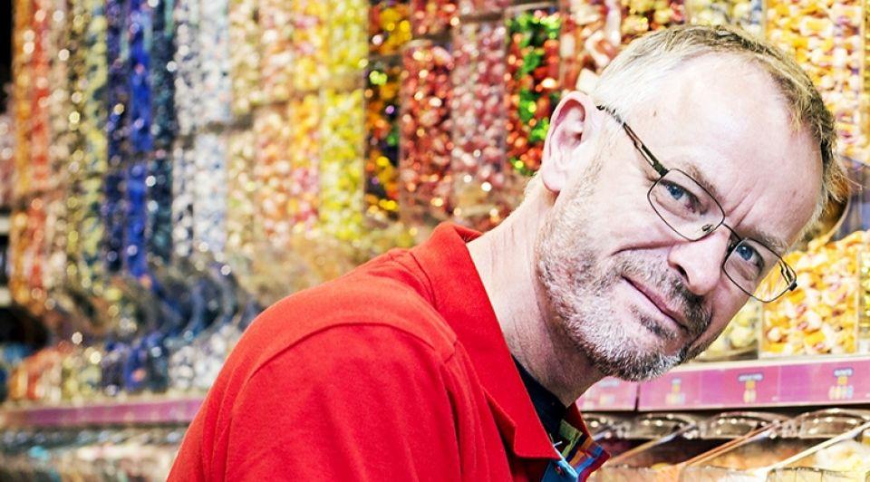 Meubelmaker snoepverkoper