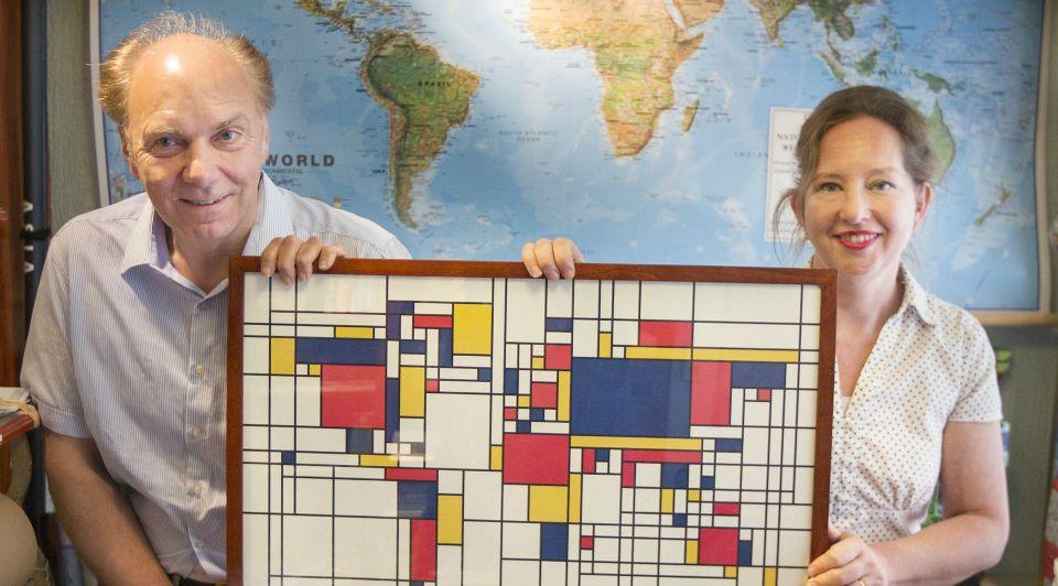 Mondriaan wereldkaart