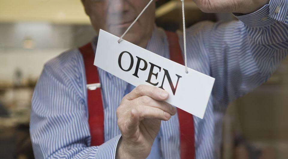 Open Gesloten Winkel Stock