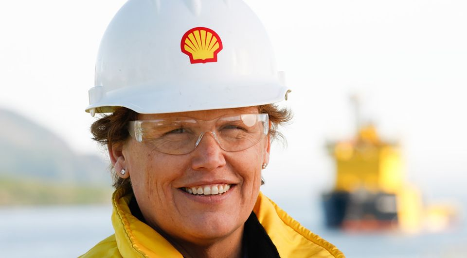 Shell medewerkster