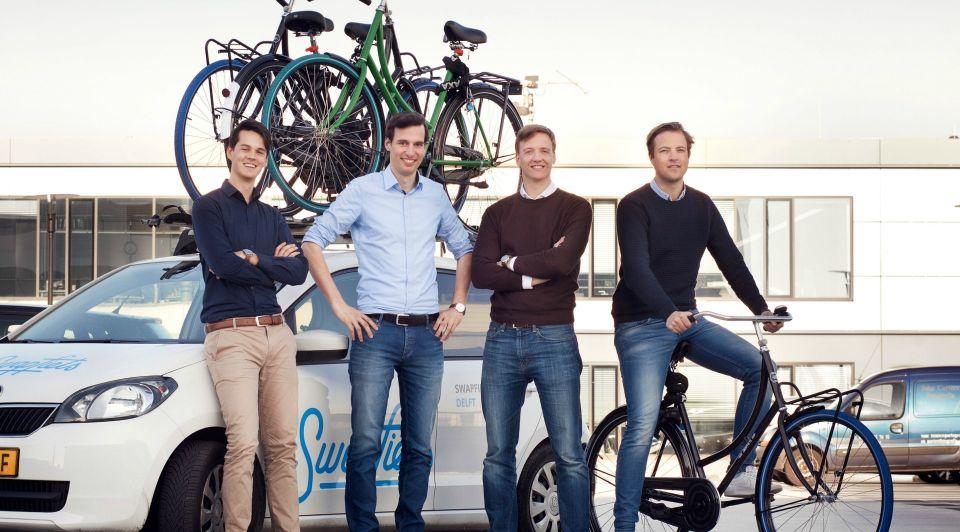 Swapfiets Groepsfoto Oprichters