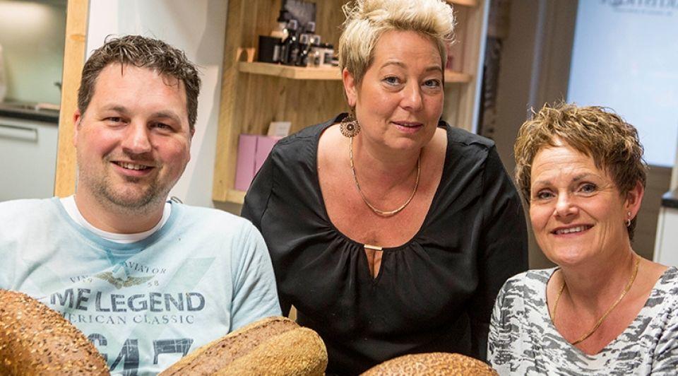 Tom Olde Dubbelink Alita Engebersen en Petra Hagendoorn doen mee met het Broodfonds voor ondernemers Robin Hilberink