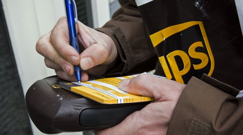 UPS pakketbezorger