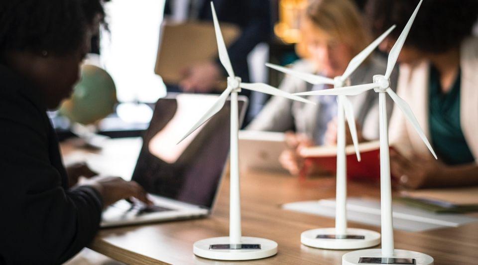 Alternative energy blur business 1076807