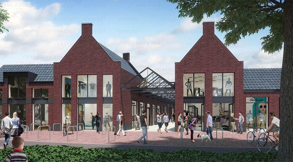 Bisschopsmolenstraat winkelgebied etten leur nieuwbouw bouwplannen