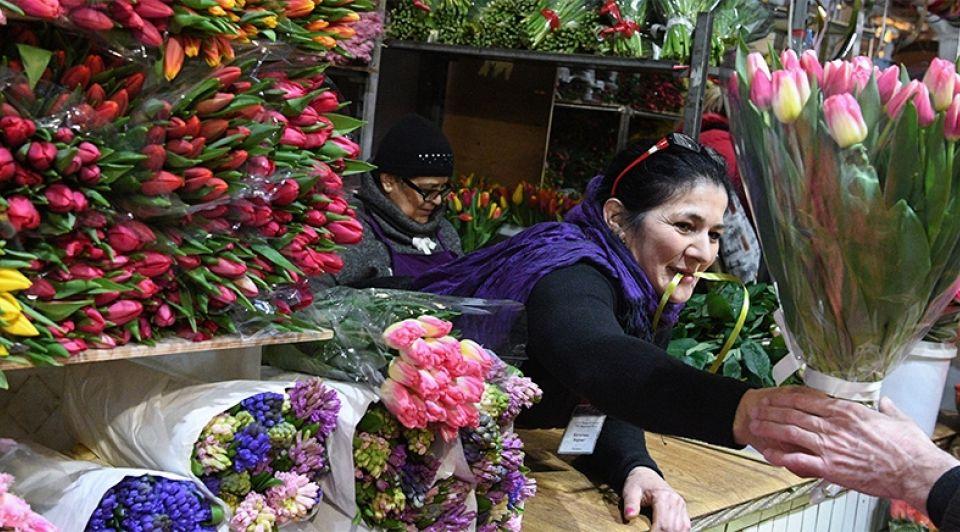 Bloemen markt moskou aalsmeer tulpen