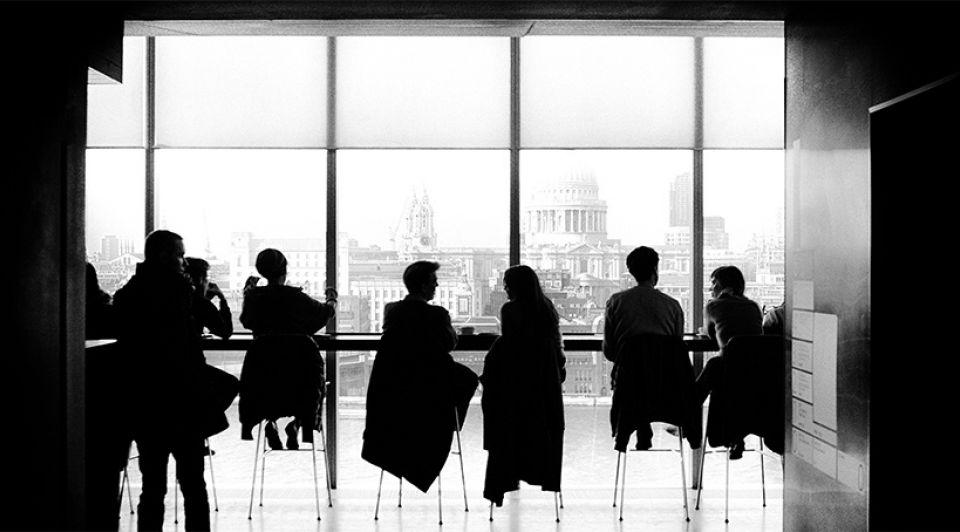 Boardroom meeting vergadering kantoor werkplek
