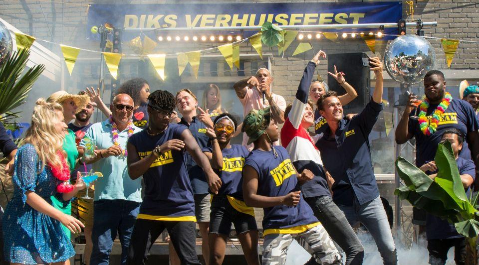 Brand your party diks verhuisfeest