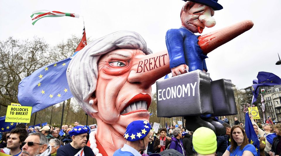Brexit strijd economie ondernemer protest