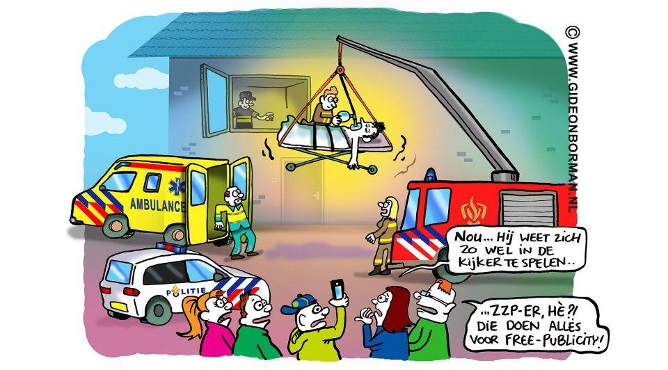 Cartoon gideon borman zzp zelfstandige column2