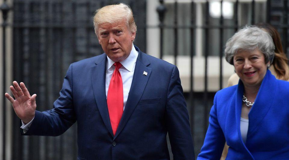 Donald trump theresa may brexit staatsbezoek london