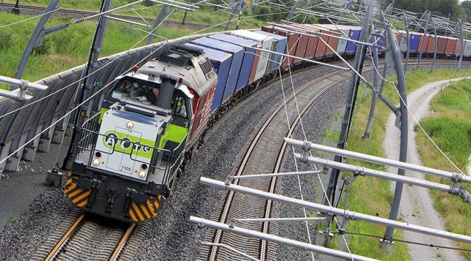 Goederentrein logistiek transport trein spoorlijn internationale handel