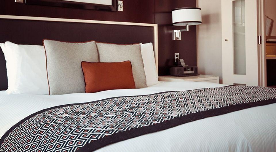 Hotelkamer stock