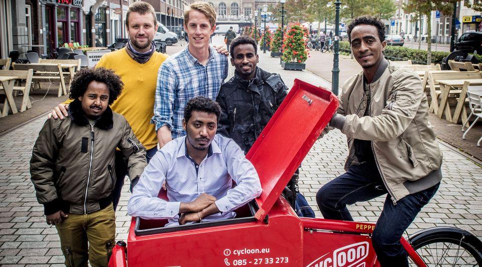 Iritreersvluchtelingenfietskoeriers Den Haag 3 kopie