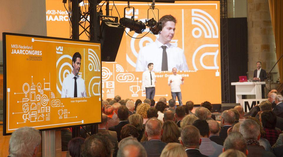 Jaarcongres zaal podium MKB