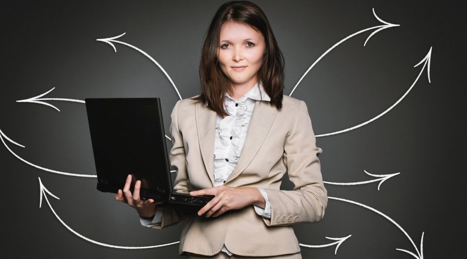 Manager vrouw laptop pb
