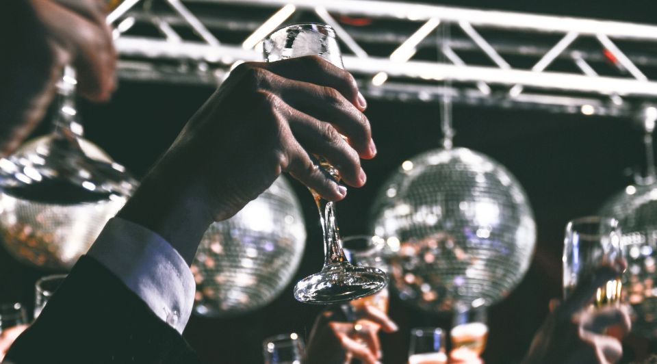 Nieuwjaar champagne