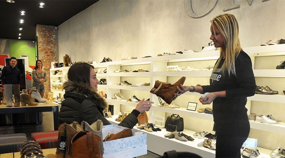 Omoda schoenenzaak terneuzen noordstraat winkelgebied