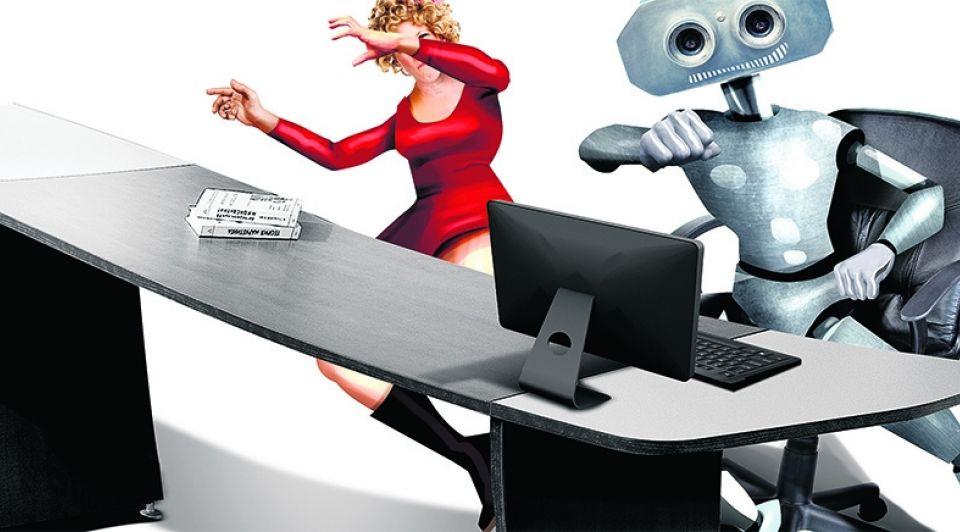 Robots robotisering vrouwen kantoor baan