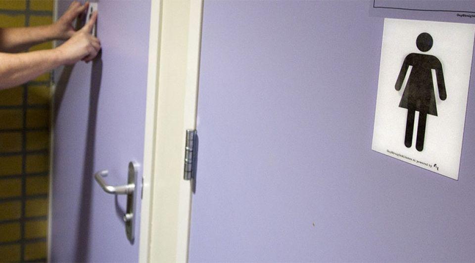 Sticker deur toilet1065