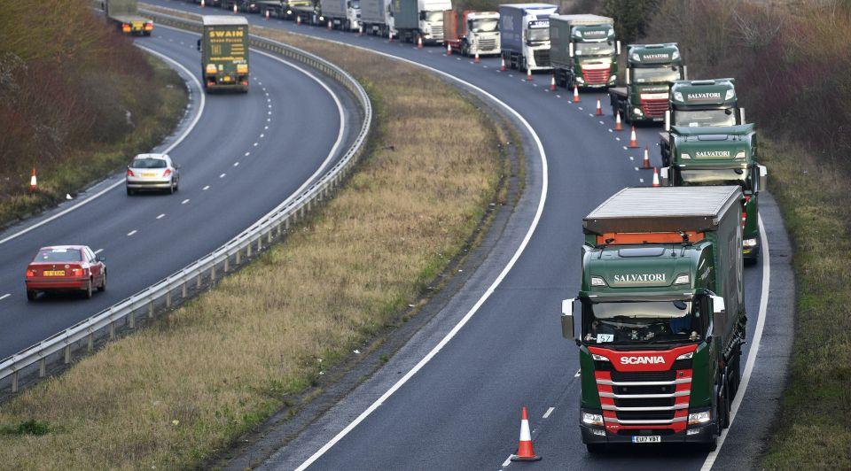 Transporteurs brexit nachtmerrie britse douane file wachten