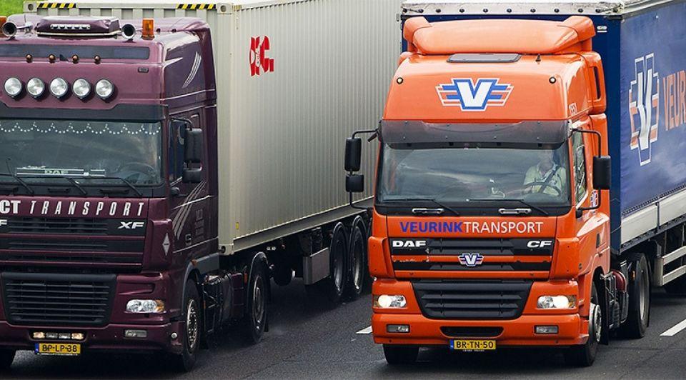 Vrachtwagen file transportsector anp
