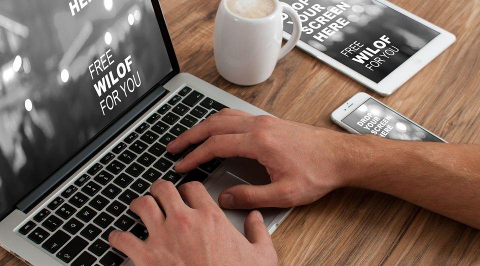 Website desktop tablet mobiel
