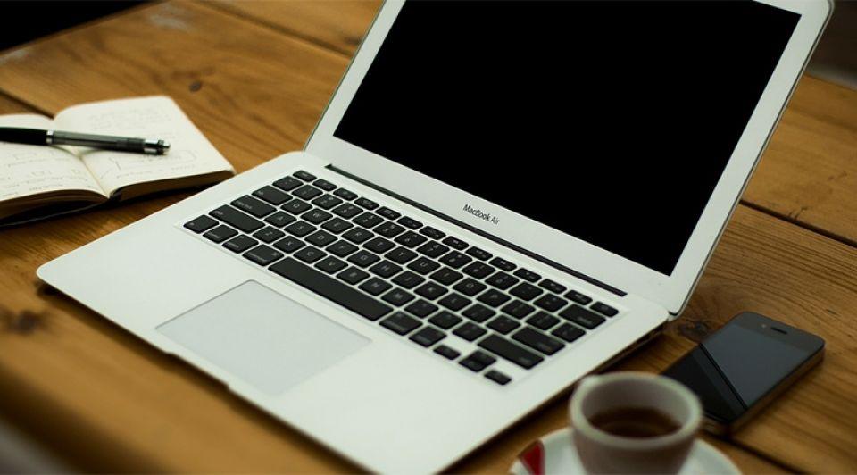 Werken laptop