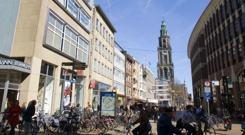 Winkelstraat Grote markt Groningen noordzijde ANP