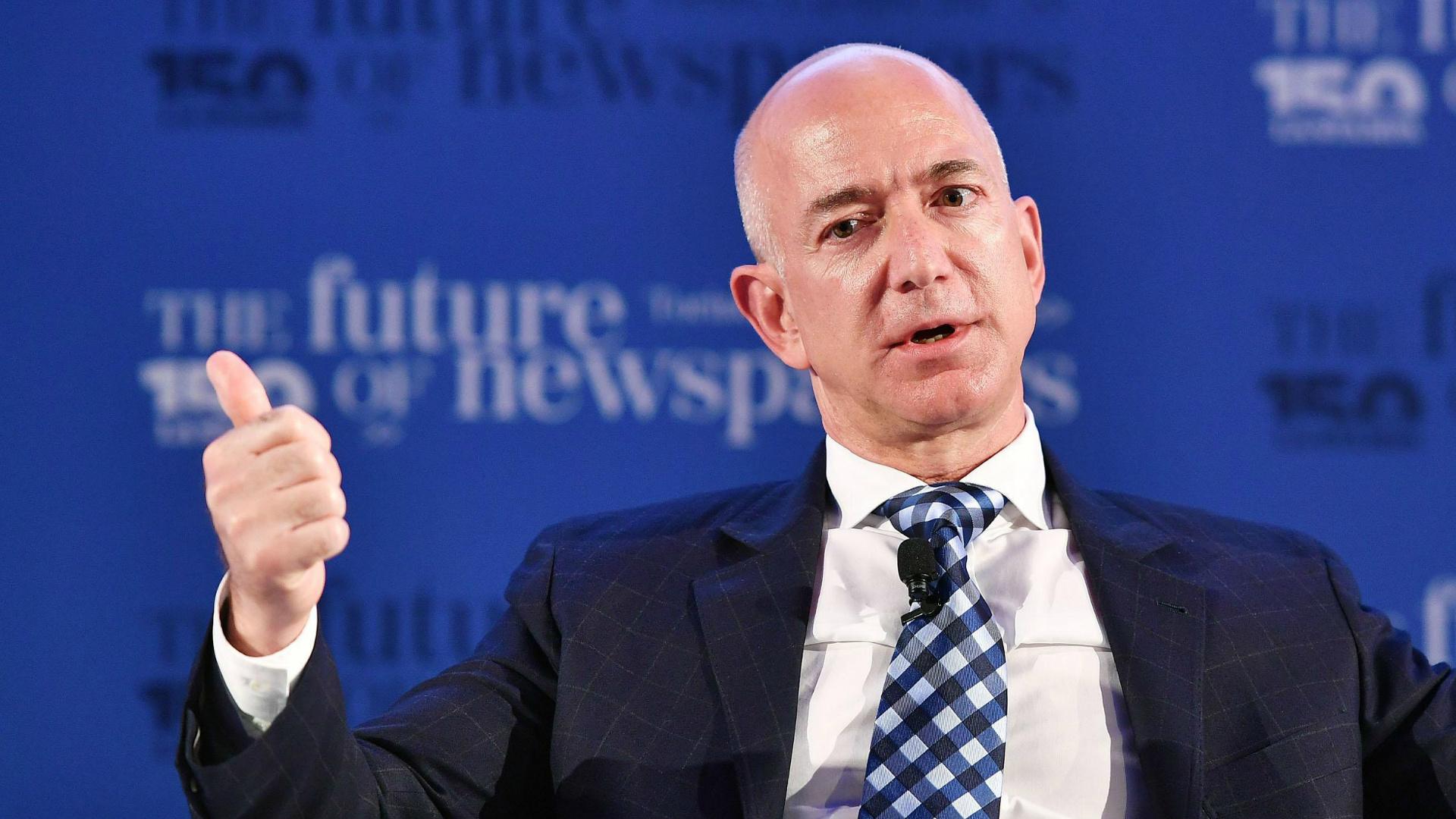 Jeff Bezos, oprichter en grootste aandeelhouder van 's werelds grootste online retailer Amazon.