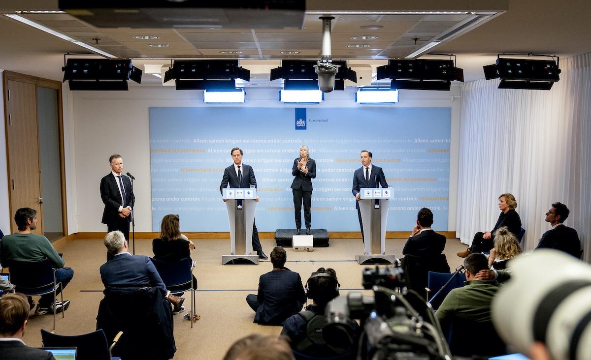 Persconferentie met premier Mark Rutte en coronaminister Hugo de Jonge