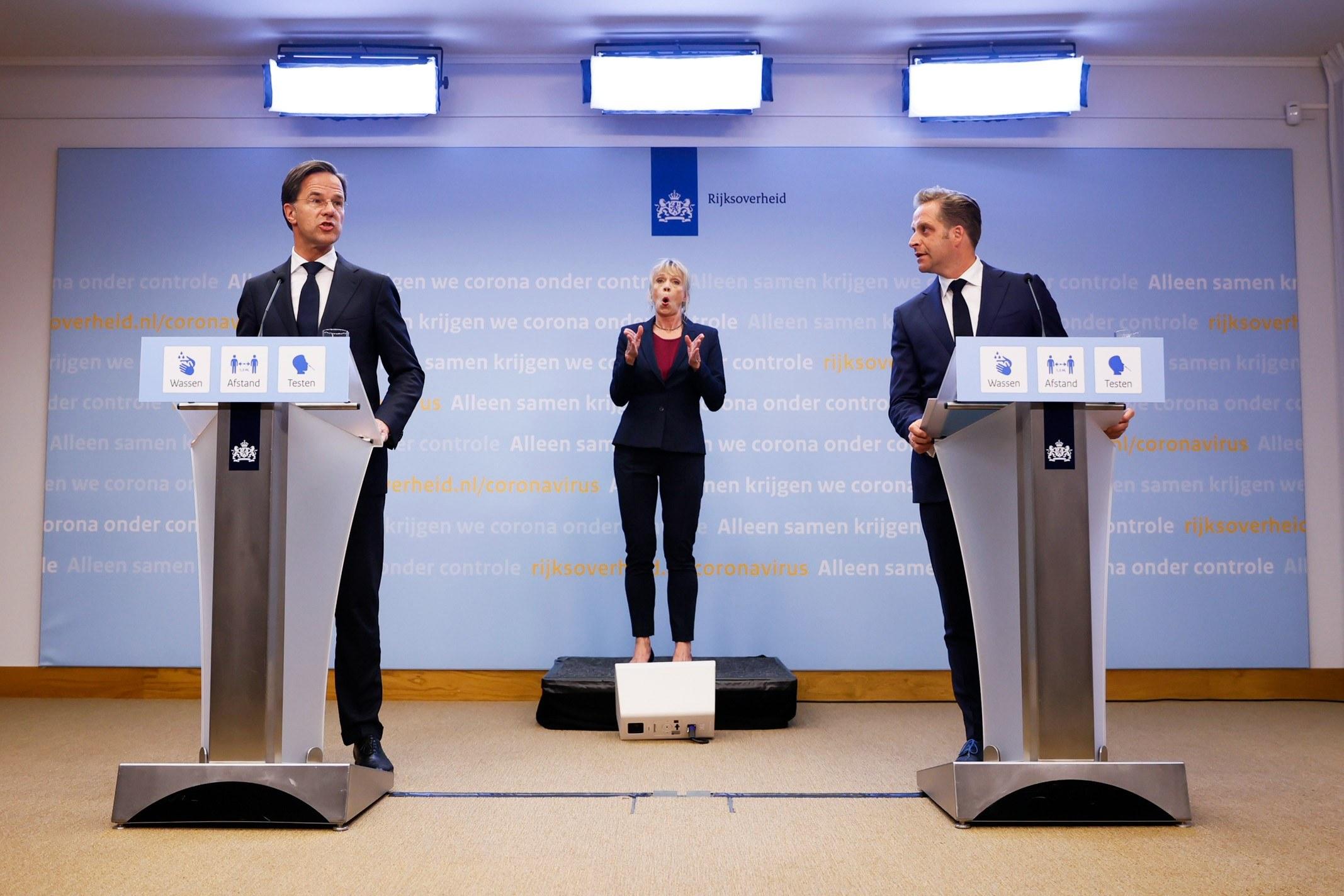 persconferentie vandaag versoepelingen coronamaatregelen rutte de jonge mondkapjes horeca